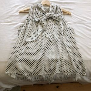Polka Dot Bow Blouse